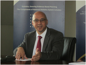 Namibia Statistics Agency Director General, Dr John Steytler. (Photograph by Hilma Hashange)
