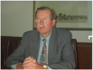 Ian Leyenaar, FNB's CEO. (Photograph by Lorato Khobetsi)