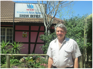 Harald Schmidt, Vice President of the Windhoek Show Society. (Photograph by Lorato Khobetsi)