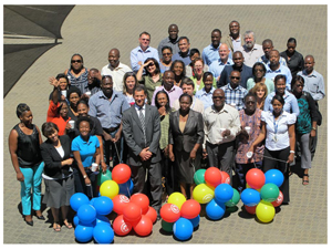 Millenium Challenge Account Namibia staff had a get together lunch to celebrate the completion of their fourth year.