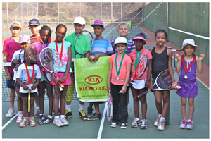The Kia Tennis Mini and Medi participants