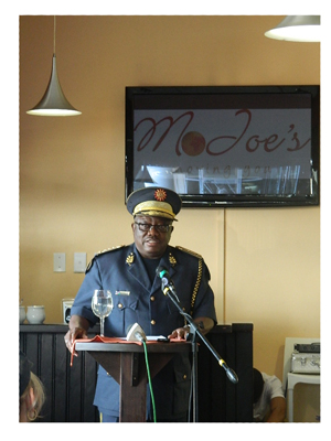 Inspector-General of the Namibian police, Lieutenant-General Sebastian Ndeitunga (Photograph by Melba Chipepo).