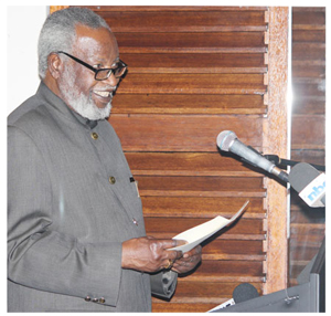 Founding President Sam Nujoma at the launch of the SNIEDA Awards. (Photo contributed)