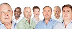 The management team at O&L Leisure. From left to right Bruce Hutchison; Sheperd Chinhoi; John Simpson; Sonja Bartsch; Thomas Mueller; Lance Hurly; Wikus Breytenbach