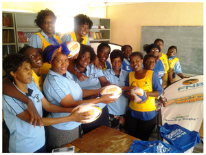 Ngweze Primary School in Katima had the largest turnout of teachers with 43 teachers receiving training in Get Into Rugby.