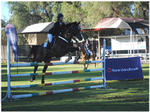Anette Künzle on Rostock Ritz Rolling Thunder, won the Bank Windhoek Six Bar Show Jumping event, which took place on Saturday at the Windhoek Show grounds.