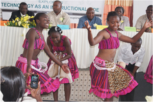 The Uukule Cultural Troupe entertained the audience (Photograph by Josephina Shikongo)