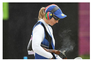 Olympic shooter, Gaby Ahrens at the recent Western Cape Olympic Trap Championship