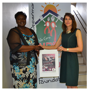 Rosemary Shippiki, National Marketing Manager of Namibia Breweries; and Dr. Christina Swart-Opperman, Founder of the CSO AIDS Orphan Foundation Trust.