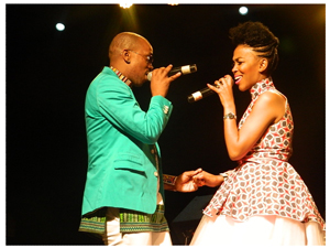 Afro pop duo Mafikizolo in harmony at the Monate Festival to mark the beginning of summer. (Photographed by Melba Chipepo).