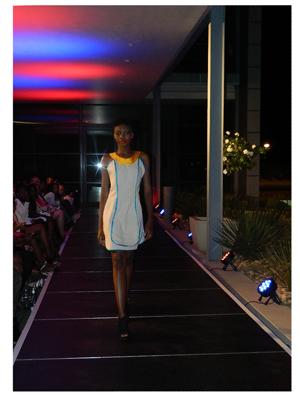 Bold Chic!, one of Taati Sibolile's designs for her spring summer collection 2013/14. photograph by Melba Chipepo