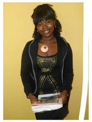 Hileni Magano Natanael received The Economist Businesswomen bursary. (Photograph by Mandisa Rasmeni)