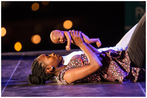 OYO's dancer Jessica Augustus performing 'the dark Medea'