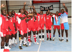 Men's volleyball champions, Namibia Defence Force, beat Nampol in the finals