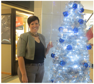 Manager of Wernhil Park shopping centre, Helen Bosshart switched on the Christmas lights last week. The shopping complex is managed by Broll Namibia and Bosshart is one of five senior female managers working in this traditionally male environment.
