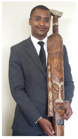 Florian Beukes received the award for the best student in 2012 at the Justice Training Centre (JTC) at the University of Namibia. After completing their law degree, all candidate legal practitioners must pass a one-year JTC course, comprising several subjects, before allowed to register and practise as a legal practitioner.