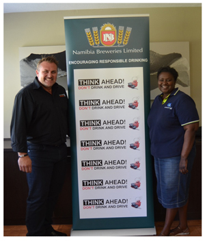 NBL Managing Director, Wessie van der Westhuizen and NBL National Marketing Manager, Rosemary Shippiki wish Namibians and visitors to our country a safe and pleasant festive season.