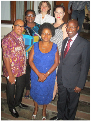 Committee members front line left to right: Gladwin Groenewaldt (Member), Maria Dax (Chairperson), Ndangi Katoma (Chairperson elect) Committee members back line left to right: Josephine Shikongo (Secretary), Annemarie Saunderson (Treasurer), Natasja Beyleveld (PR & Communication)