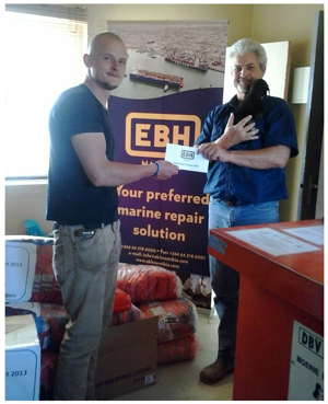 During the Christmas season, EBH Namibia reaches out to animals in need by supporting the SPCA in Walvis Bay with a donation of pet food, pet supplies, and cash.