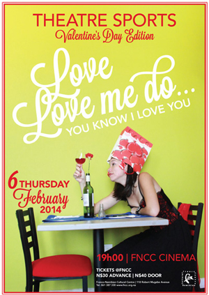 """""""Love, love me do, you know I love you…"""" - With Valentine's Day around the corner, the Theatre Sports crew tackles all things romantic."""