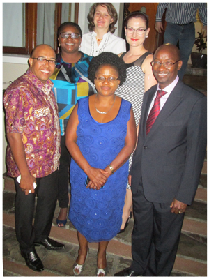 (Front row from left to right) The PRISA Namibia Committee consists of Gladwin Groenewaldt (PRISA: Membership); Maria Dax (PRISA: Chair); Ndangi Katoma (PRISA: Chair-Elect); (Middle row from left to right) Josephine Shikongo (PRISA: Secretary); Natasja Beyleveld (PRISA: PRO) and (back) Annemarie Saunderson (PRISA Treasury). Not in the picture is Helene Meintjes (PRISA Additional Member).