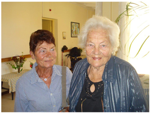 Mrs List and her daughter Elke Lorck.