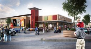 The architectural rendering of what the new Auas Valley Shopping Mall will look like when the upgrade and extension programme is completed later this year.
