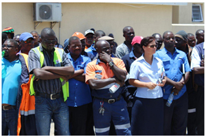 98 Namport employees who work in the container terminal were reinstated in their jobs this week  following sensitive negotiations between NATAU and the Namport management.