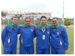 Heiko Fleidl, Rudi Saunderson, Darren Strauss and Wayne Green (from left to right) formed the Namibian team.