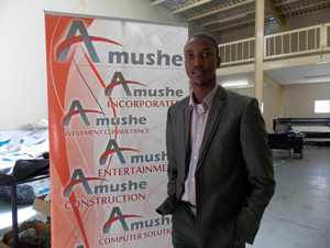 Young and dynamic driving force behind Amushe Inc., Michael Amushelelo has just been nominated as a potential Windhoek Lager Ambassador in the Business category. (Photograph by Comfort Ajibola)