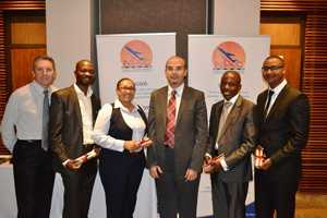 NAC Acting CEO Tamer El-Kallawi (third from right) with members of the Kura group voted as the best performing group completing the management development programme at the University of Stellenbosch Business School for Executive Development.