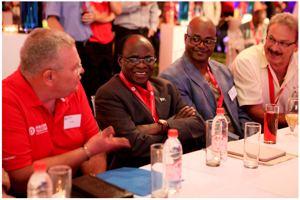 Left to Right: Mr. Barney Harmse, Paratus Telecom Group CEO, Hon. Joel Kaapanda, Minister of Information and Communication Technology, Mr. John Walenga of Omalaeti Productions and Mr. Jochen Traut of the Communication Regulatory Authority of Namibia (CRAN).