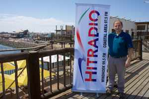 Andreas Thieman outside the new Hitradio Namibia studio in the very popular Walvis Bay Waterfront. Thieman started his first broadcast for Hitradio at the coast this week with a matinee show called Namibia am Mittag. It runs every day from 12:00 to 14:00.