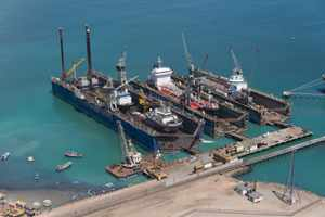 EBH Namibia docked and repaired jack-up oil rig in a company and country first
