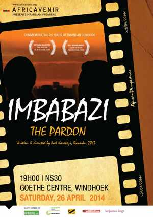Goethe-Centre in conjunction with Africavenir will be screening the Namibian premier of the Rwandan film Imbabazi – The Pardon