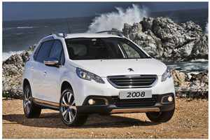 The attractive new Peugeot 2008 flaunts its extravagant styling.