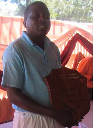 Steven Simukai, Zimbabwe's 'A' Division winner in the Windhoek Lager Africa Jacket Golf qualifying tournament.