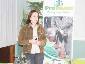 Dagmar Honsbein, the General Manager of Agra ProVision reported back to the farming community in the South on the recent Swakara auction in Copenhagen.