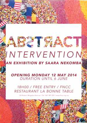 Saara Nekomba is treating art lovers to her first solo exhibition. Labelled Abstract Intervention, it opens next week 12 May at the Franco Namibian Cultural Centre.