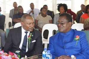 Deputy Minister Hon. Pohamba Shifeta and Otjozondjupa Governor Hon. Samuel Nuuyoma during the official opening.