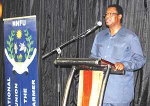 Meatco CEO, Vekuii Rukoro, recently addressed the National Namibian Farmers Union on unity in agriculture.