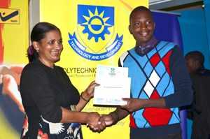 Poly best second year student, Ishmael Mubwandarikwa.