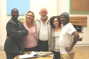 From the left, David Ndjavera, actor; Yanna Smith, actor; Aldo Behrens, actor and director, Senga Brockerhoff, actor and Keamogetsi Joseph Molapong, actor and assistant director.