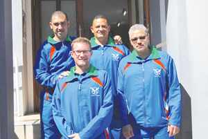 The table tennis team consisting of three senior players: Heiko Fleidl, Fabian Tait and Reinhardt Stanley, as well as Darren Strauss, who will be joining the team as development player.
