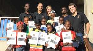 When Basketball meets education: The children who excelled with their grades got rewarded by the after school programme.