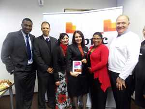 Tax resolver super hero team. Associate Director Nelson Lucas, Tax Leader Stefan Hugo, PWC Manager Samantha Maasdorp, Tax Partner Chantell Husselmann, Manager Dolly Mouton and Senior Manager Denis Hyman. (Photograph by Freeman Ngulu)
