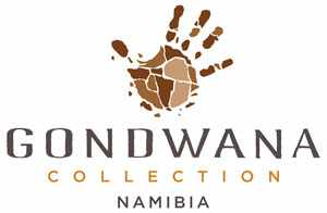 The new logo of Gondwana Collection Namibia. A close look at the hand reveals the ancient continent of Gondwana as well as the contours of Africa and Namibia.