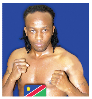 Ready to rumble: Joseph 'Smokey' Hilonga is to trade leather with with Argentine Raul Eliseo Medina in the up coming Boxing Bonanza