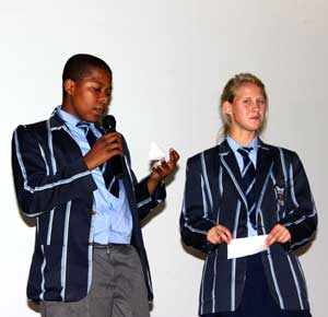 """Windhoek High School this week officially became a member of the German exchange programme """"Schools: Partners for the Future."""" WHS students Giften April and Jeanette-Marie Beukes talked about their experience in the project."""