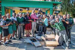 Kalahari Sands and Casino supported People's Primary School during the holidays to refurbish the learners' educational environment and to provide them with basic classroom items.